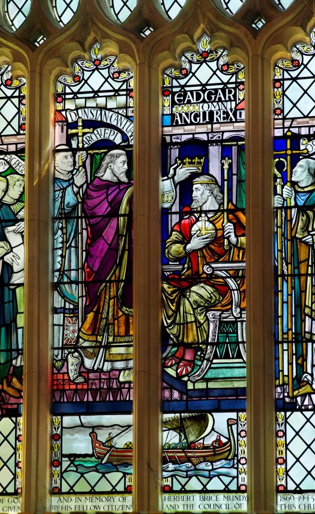 Bath Abbey King Edgar Window